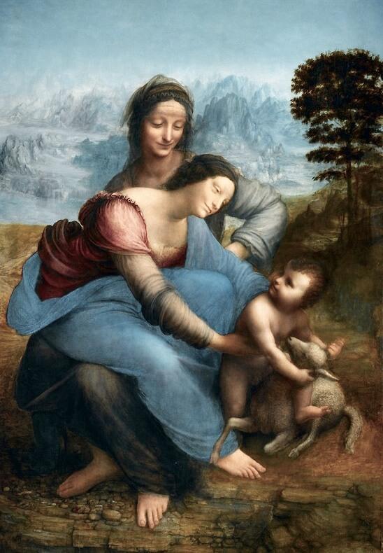 Леонардо святая Анна с мадонной