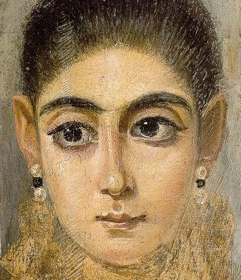 Фаюмский портрет молодой женщины фрагмент лувр