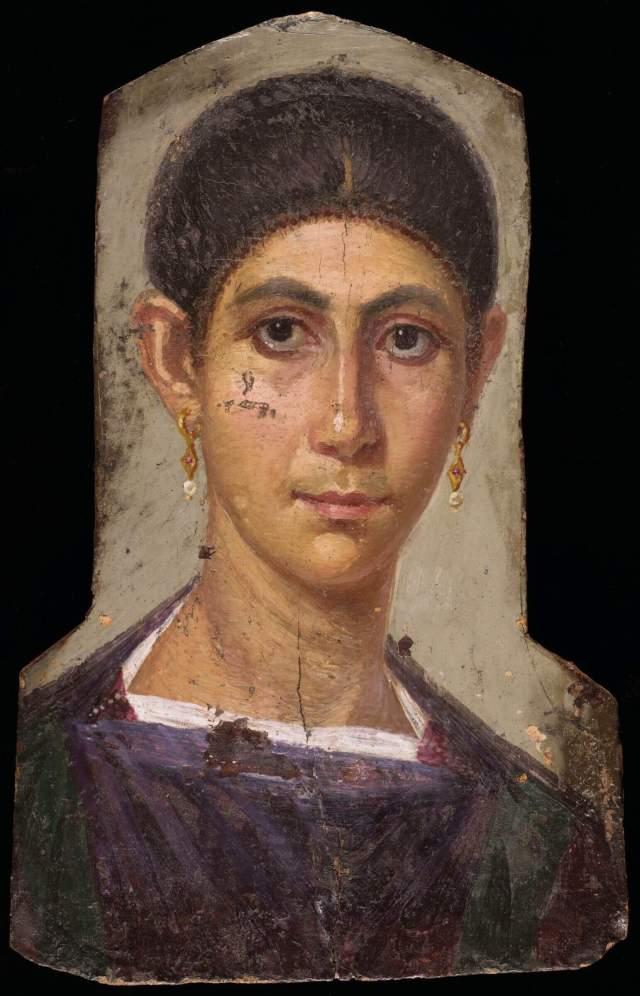 Фаюмский портрет женщины с сережками