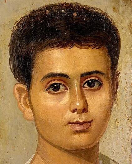 Фаюмский портрет Евтихия фрагмент