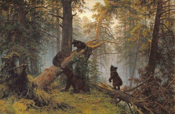 Иван Шишкин. Утро в сосновом лесу.