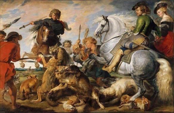 Рубенс охота на волка и лису