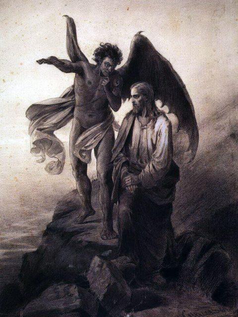 Суриков искушение Христа