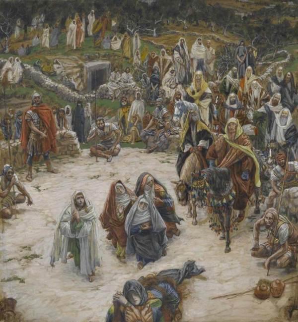 Джеймс Тиссо. Библейский цикл: Что видел Христос на кресте. 1889. Бруклинский музей.
