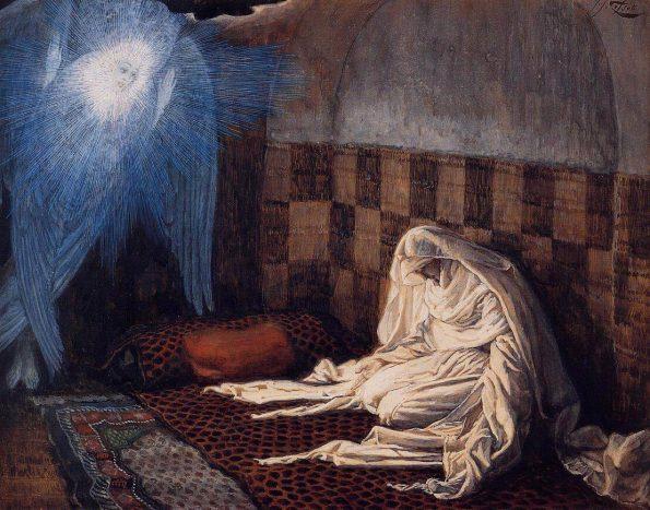 Джеймс Тиссо. Библейский цикл: Благовещение. 1889. Бруклинский музей.