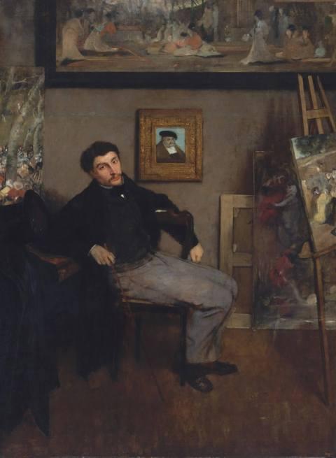 Эдгар Дега. Портрет Джеймса Тиссо. 1868. Музей Метрополитен, Нью-Йорк.