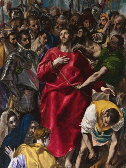 Эль Греко снятие одежд с Христа