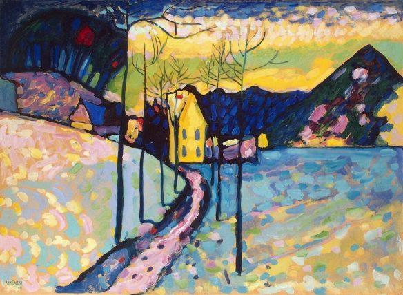 Кандинский зимний пейзаж