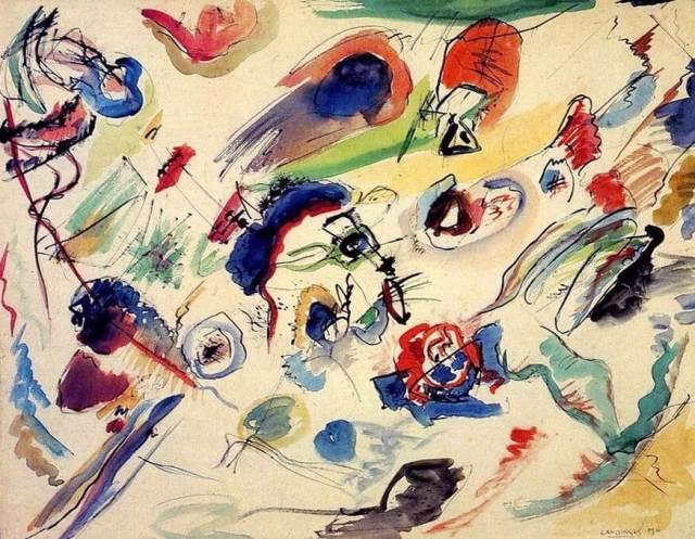 Кандинский первая абстрактная работа