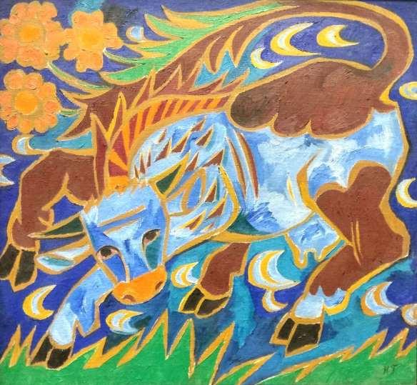 Гончарова голубая корова