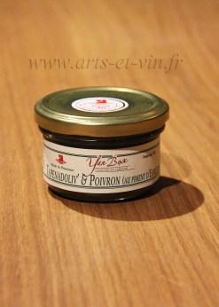 Pot Tapenade olives et poivrons au piment despelette