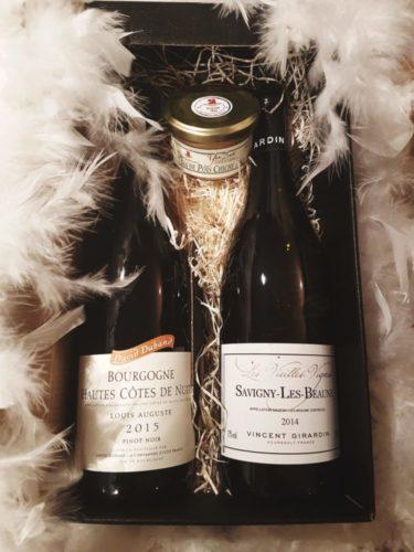 Coffret cadeau vin et tian de pois chiches