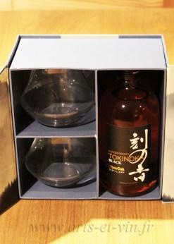 Tokinoka black coffret 2 verres ouvert