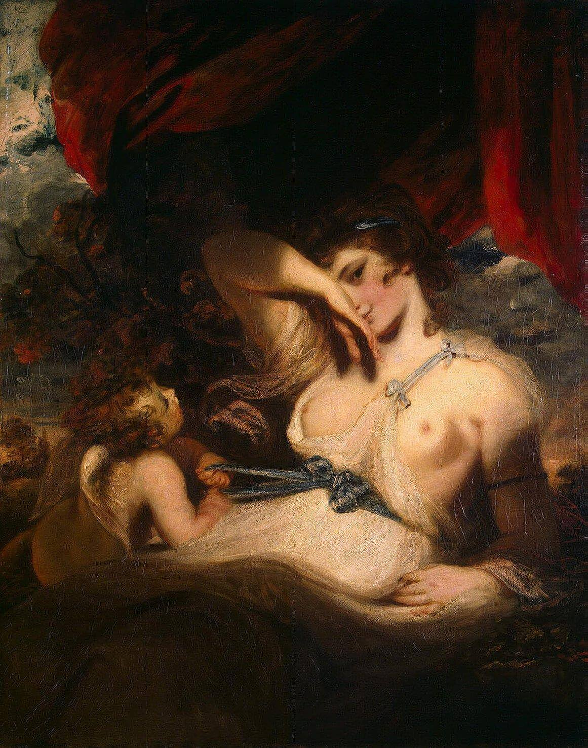 Joshua Reynolds. Cupid Untying the Girdle of Venus. 1788.