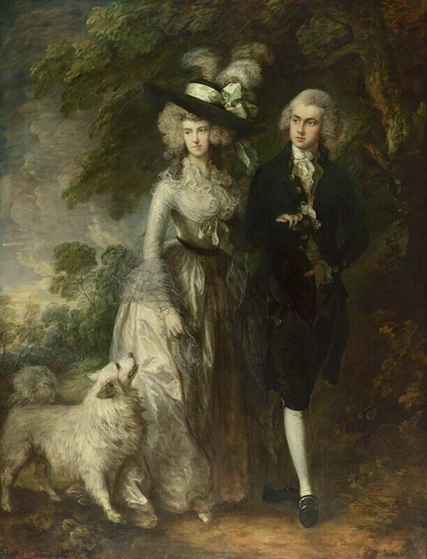 Thomas Gainsborough. Portrait of Mr. and Mrs. William Hallett (Morning Walk). 1785.
