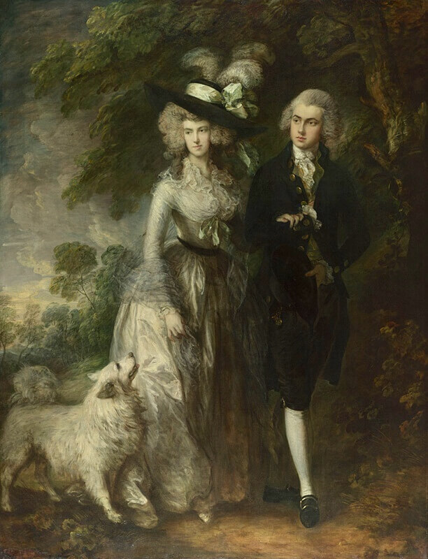 Thomas Gainsborough. Portrait of Mr. and Mrs. William Hallett (Morning Walk). 1785.