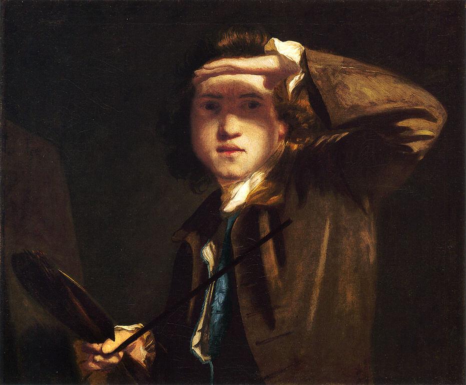 Joshua Reynolds. Self-portrait. 1747.