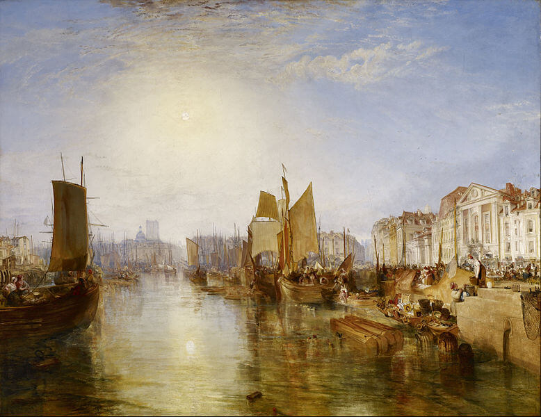 William Turner. The Harbour of Dieppe. 1826.