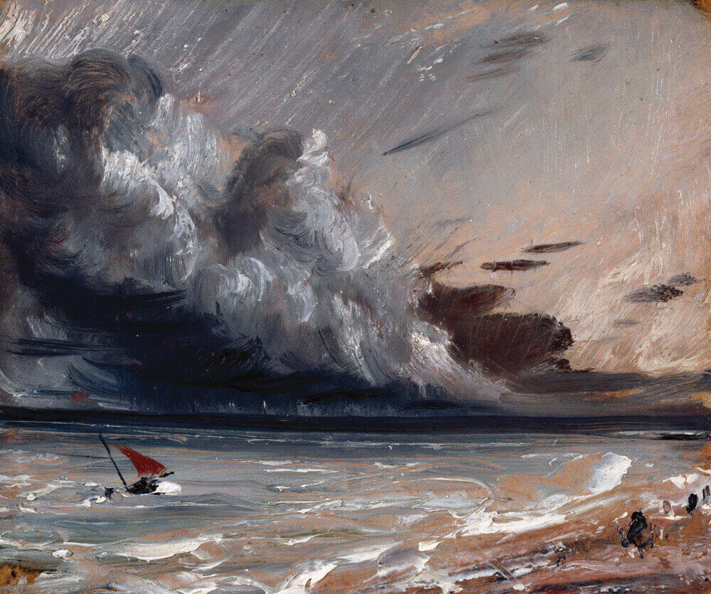 John Constable. Boat and Stormy Sky. 1824-1828.