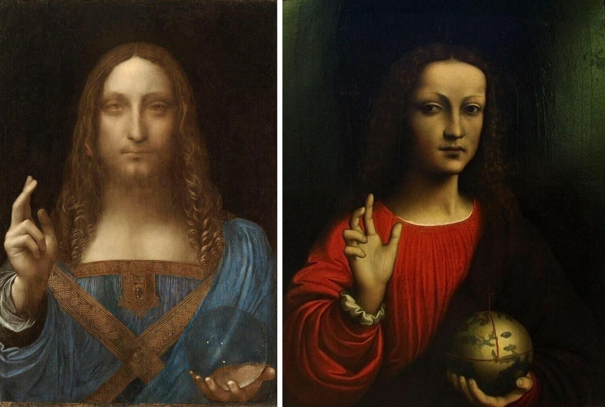 Leonardo and his pupil's paintings