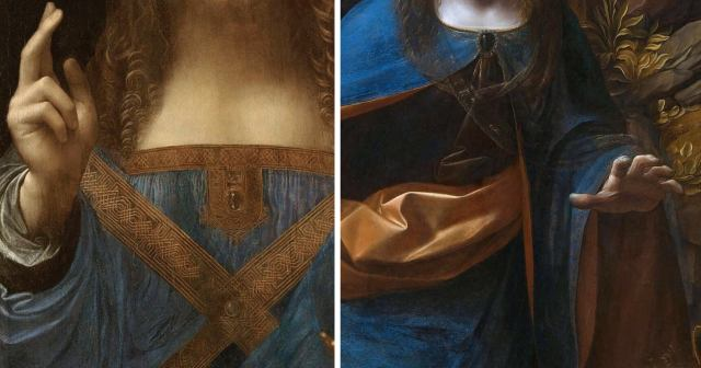 Fragments of Leonardo's paintings