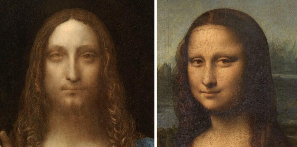 Leonardo's paintings details