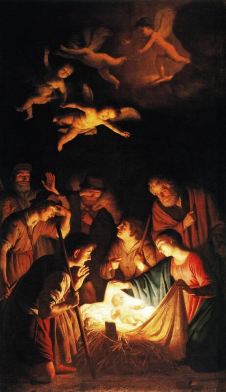 Honthorst. Adoration of the Shepherds