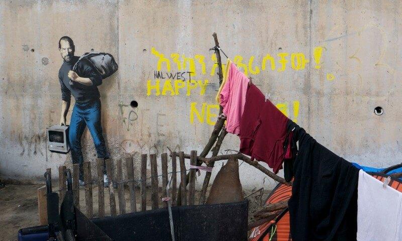 Banksy. Steve Jobs Refugee.