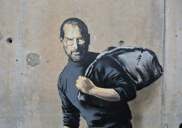 Banksy. Steve Jobs is a refugee.