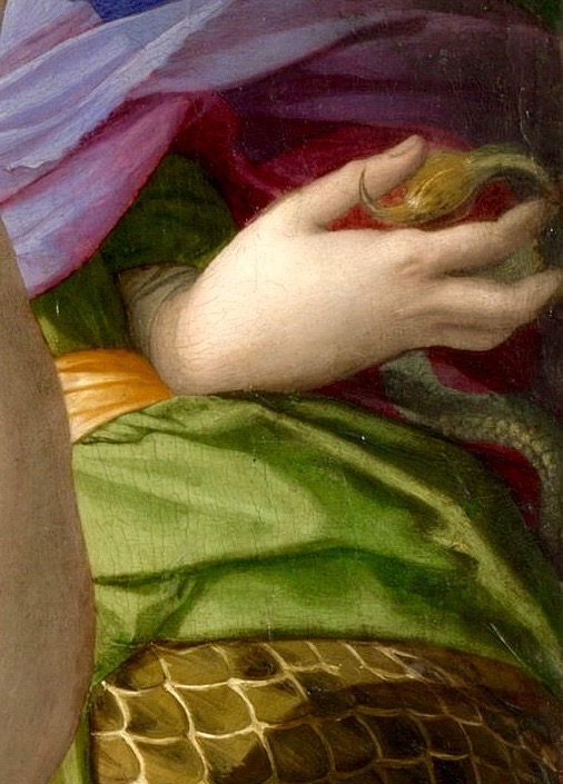 Agnolo Bronzino. Allegory with Venus and Cupid. Fragment.