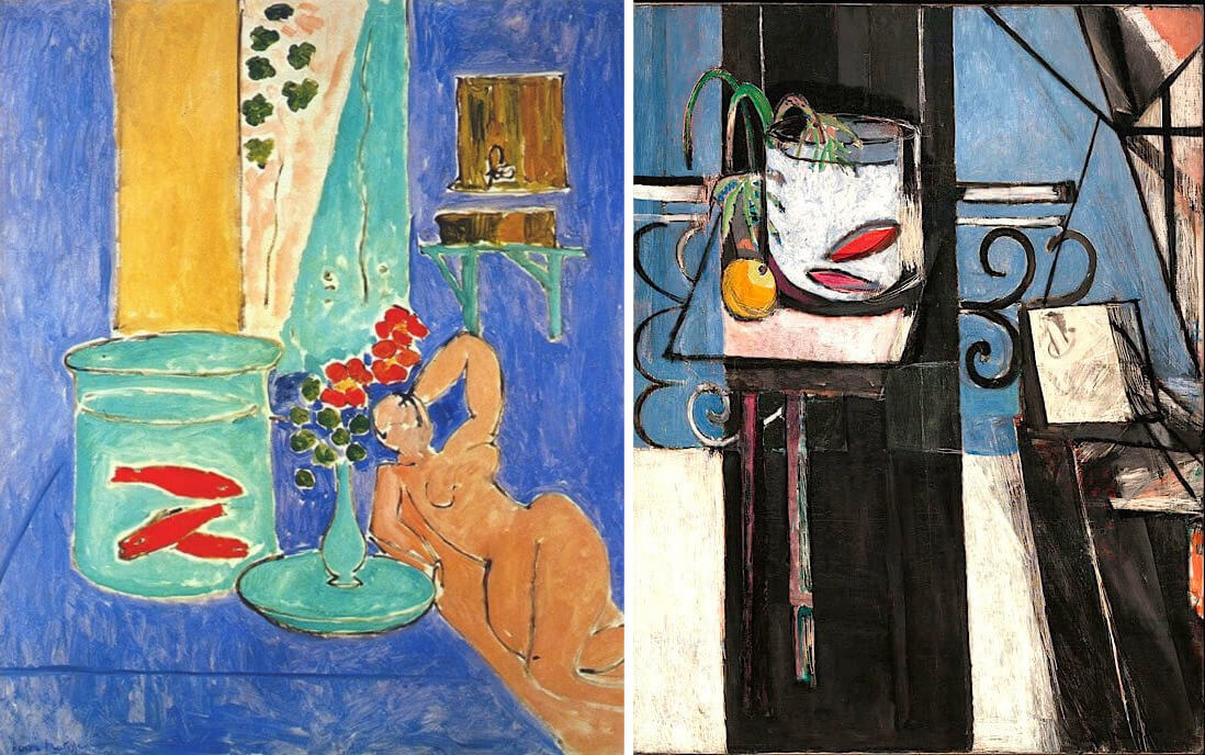 Paintings by Henri Matisse at the Museum of Modern Art in New York
