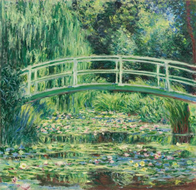 Monet. White water lilies