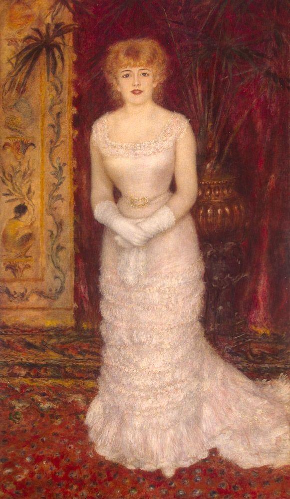 Renoir. Portrait of actress Jeanne Samari