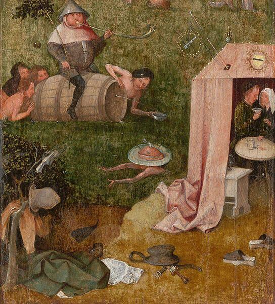 Bosch allegory of gluttony