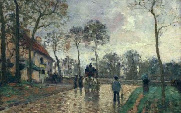 Pissarro Stagecoach in Louvesien