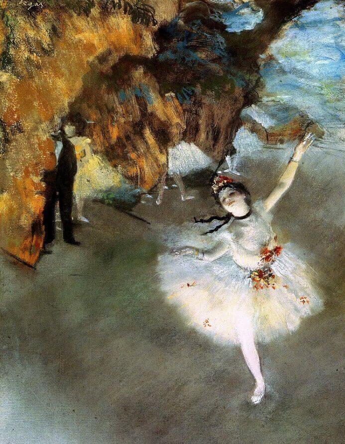 Degas. Ballet star.