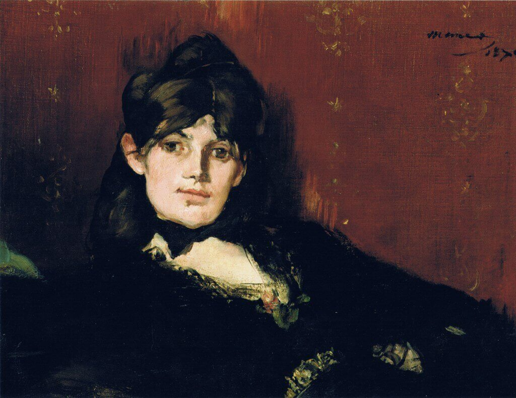 Manet. Portrait of Berthe Morisot.