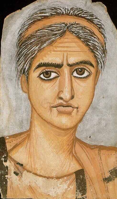 Fayum portrait of a woman. British Museum