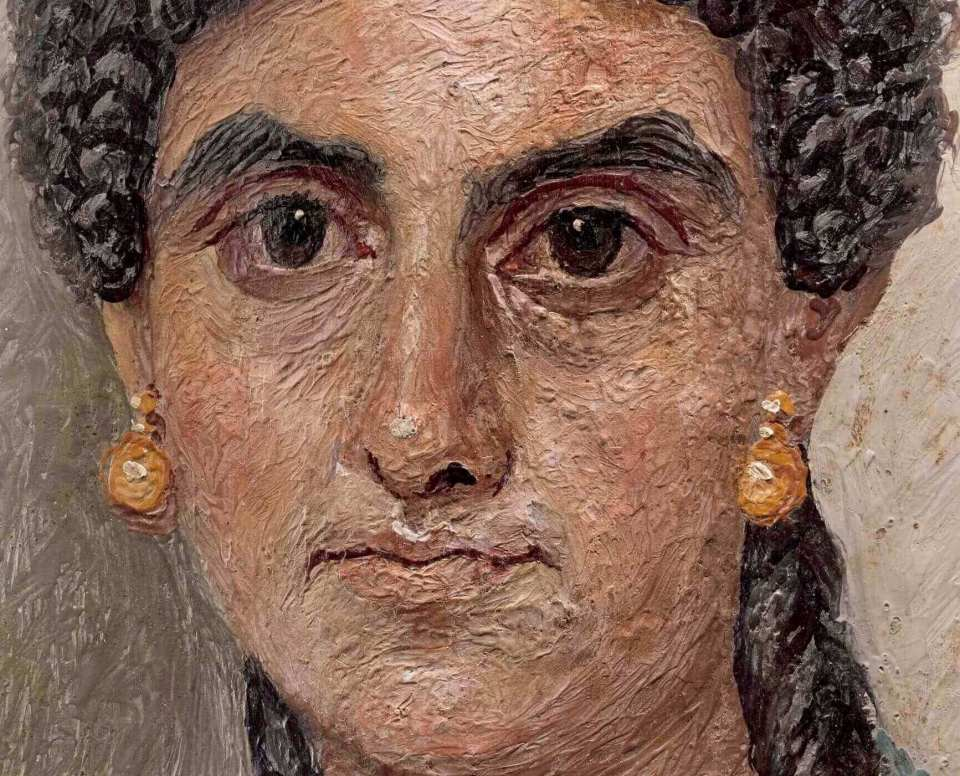 Fayum portrait of a woman. Metropolitan Museum