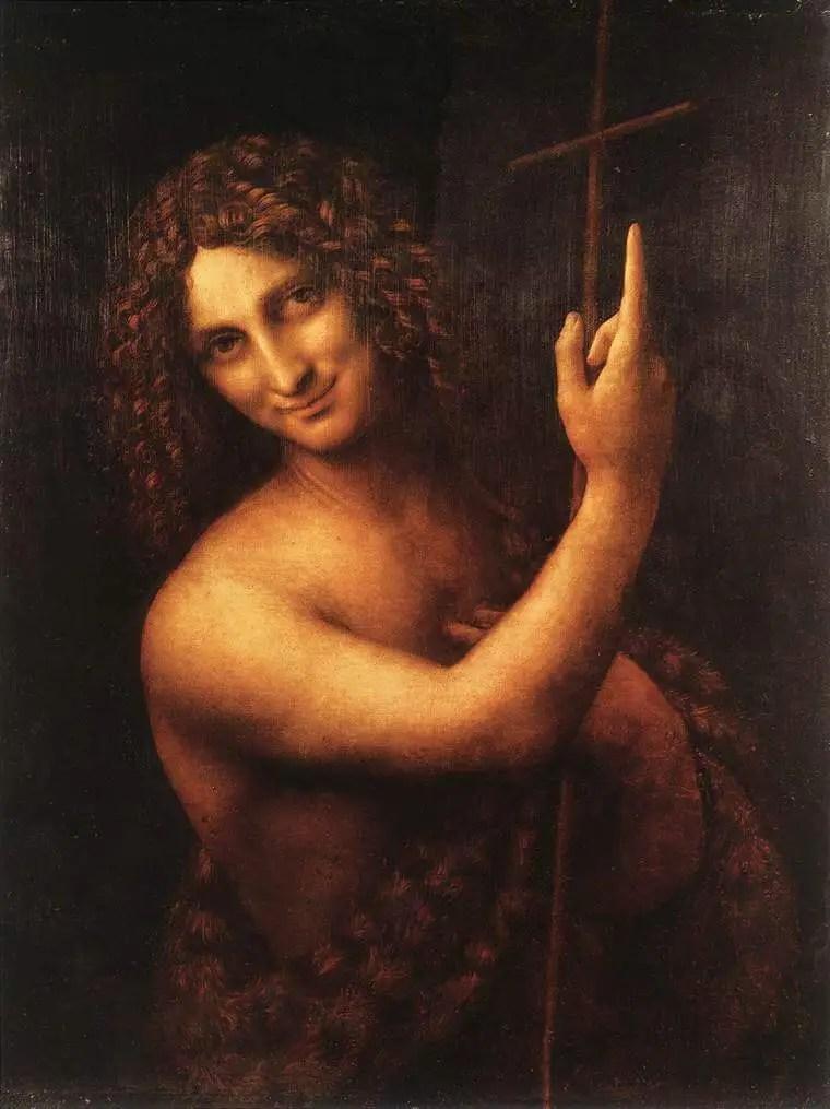 Leonardo da Vinci. St. John the Baptist. Louvre.