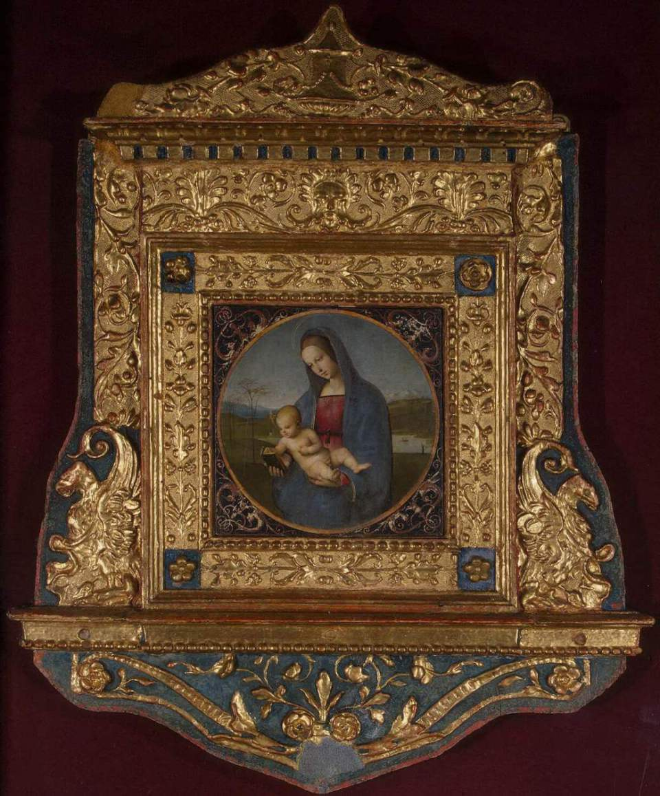 Raphael. Madonna of Conestabile (with frame).