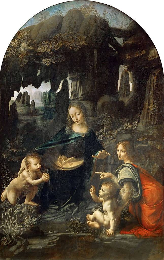 Leonardo da Vinci. Virgin of the rocks. Louvre