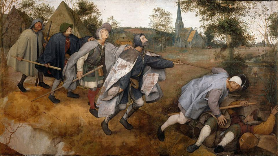 Bruegel. The parable of the blind.