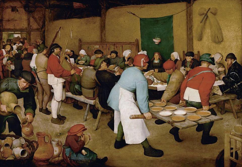Bruegel. Peasant wedding.