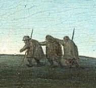 Brueghel. Flemish Proverbs (fragment). Blind