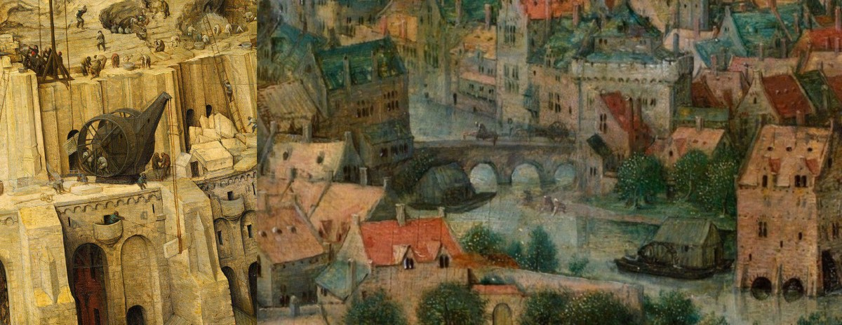 Peter Brueghel the Elder. The Tower of Babel (Fragments)