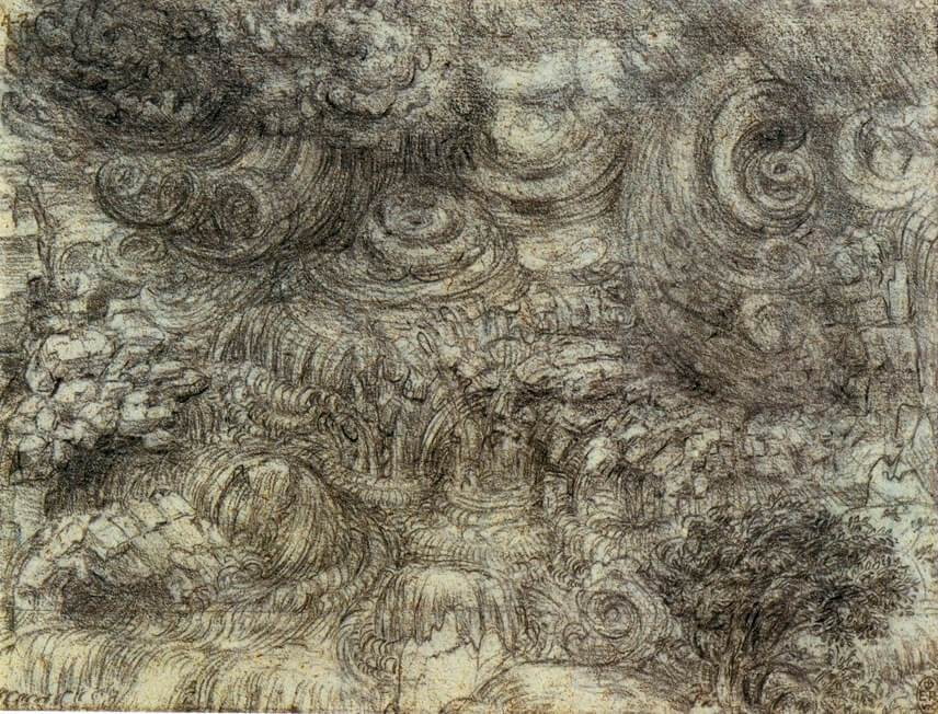 Leonardo da Vinci. The flood.