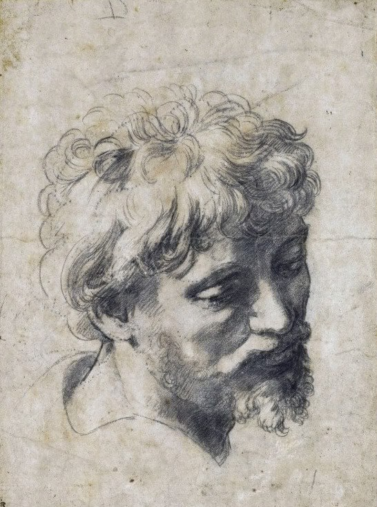 "Raphael. Sketch ""Head of the Young Apostle."""