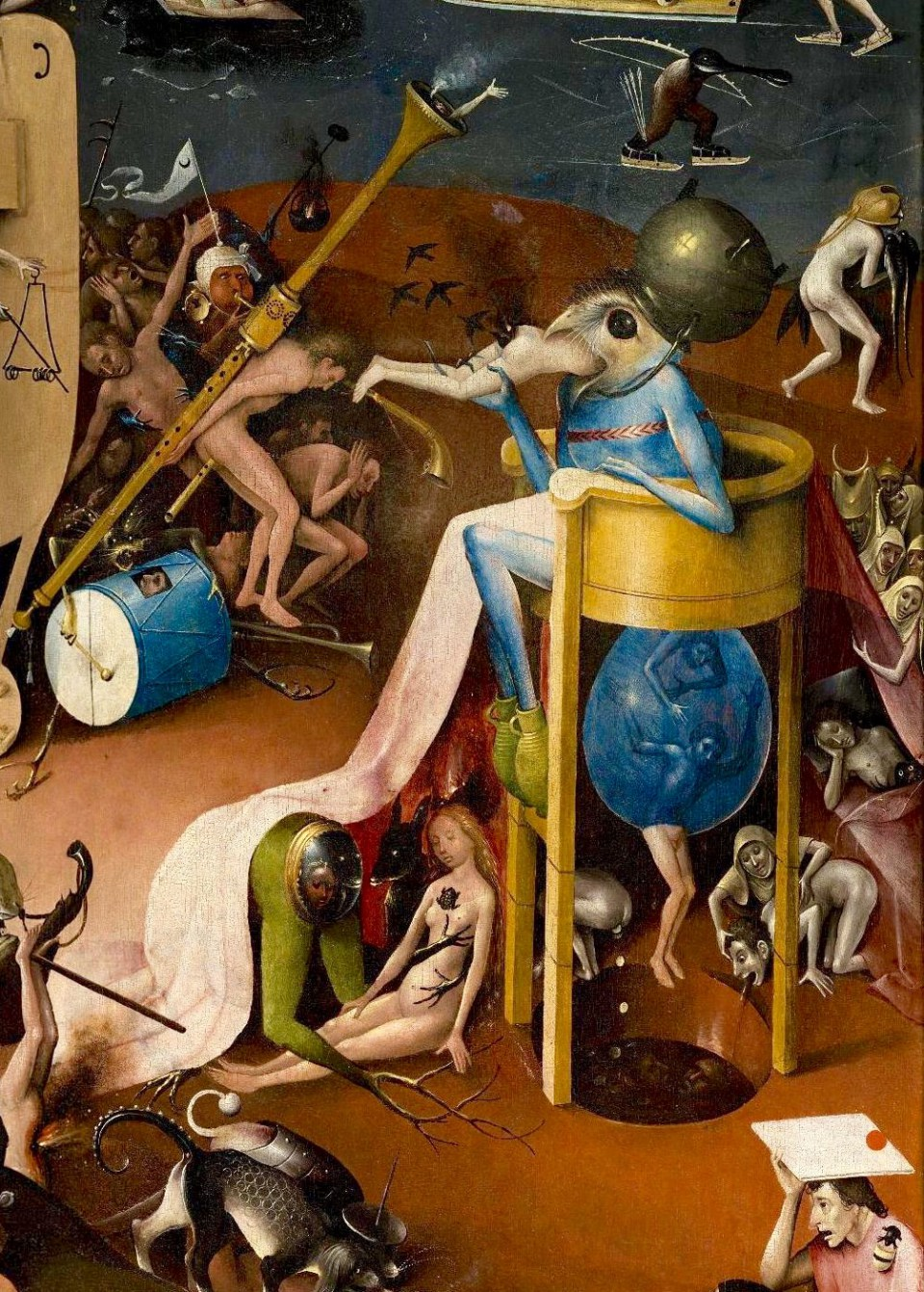 "Jerome Bosch. Garden of Earthly Delights. Right wing of the triptych ""Hell""."