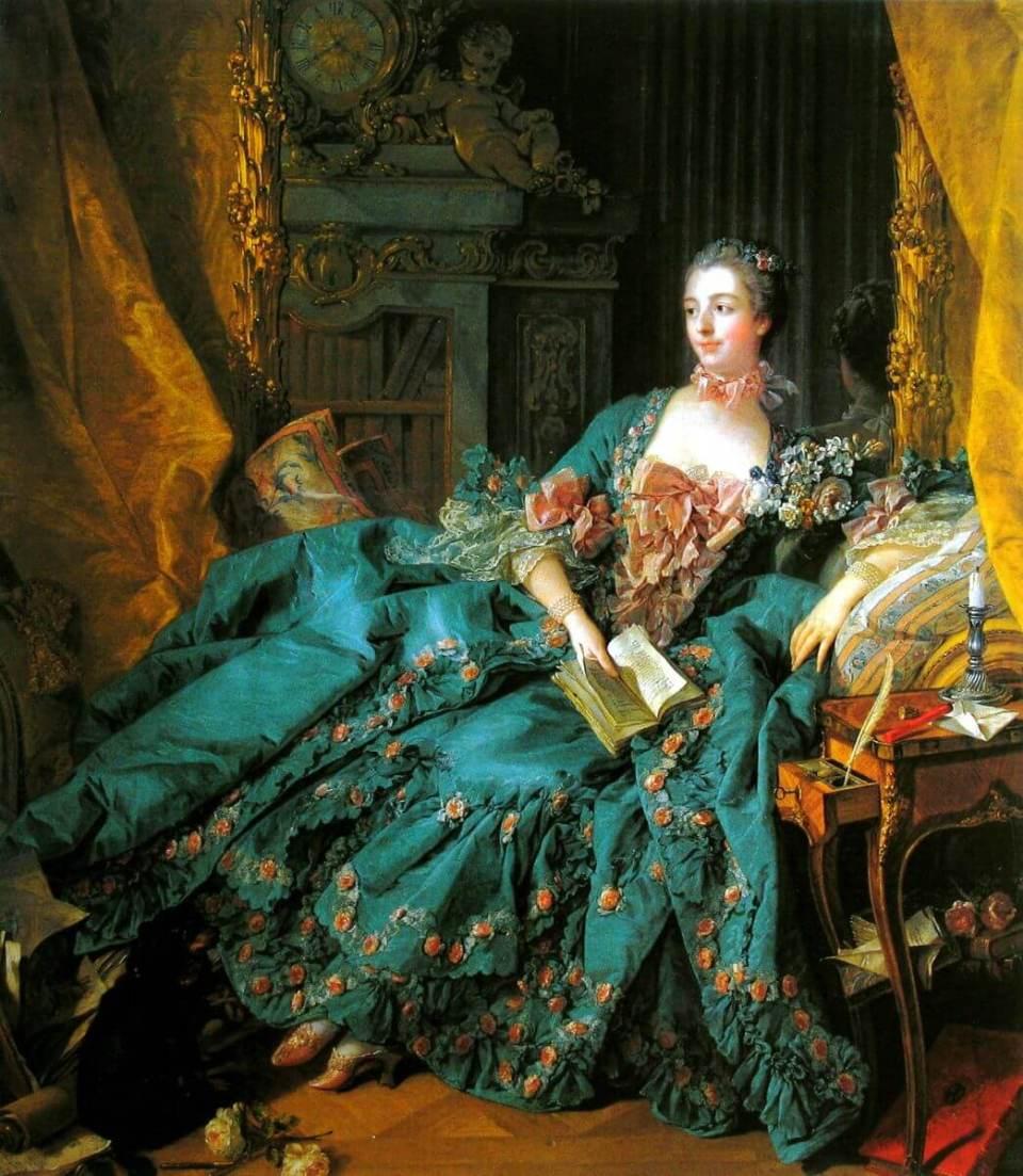 Francois Boucher. Madame Pompadour.